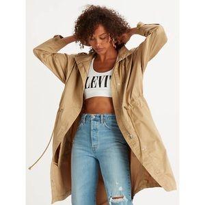 NEW Levi's Paola Oversized Fit Tan Utility Jacket